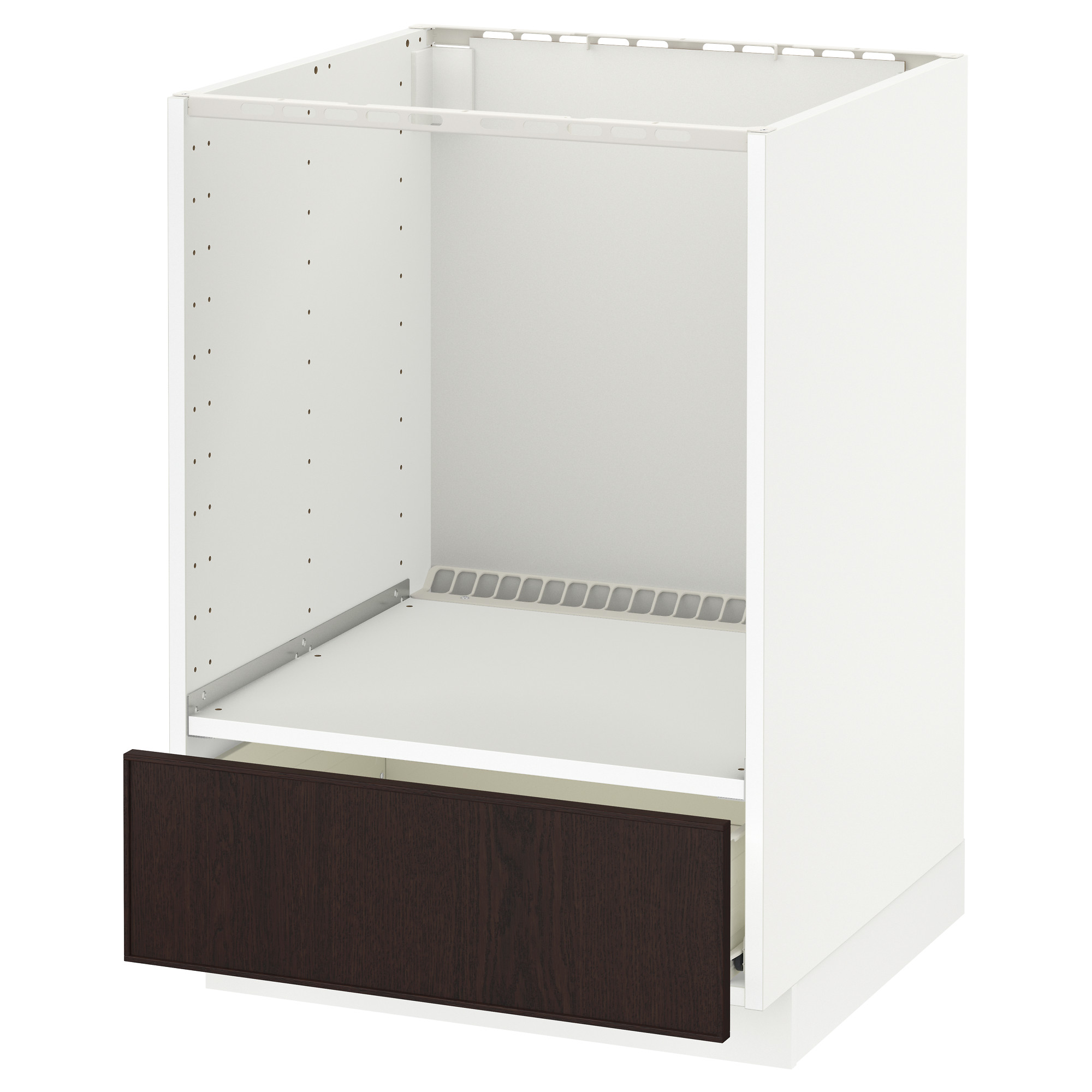 METOD Base cabinet for oven with drawer - Fö, Ekestad brown - IKEA