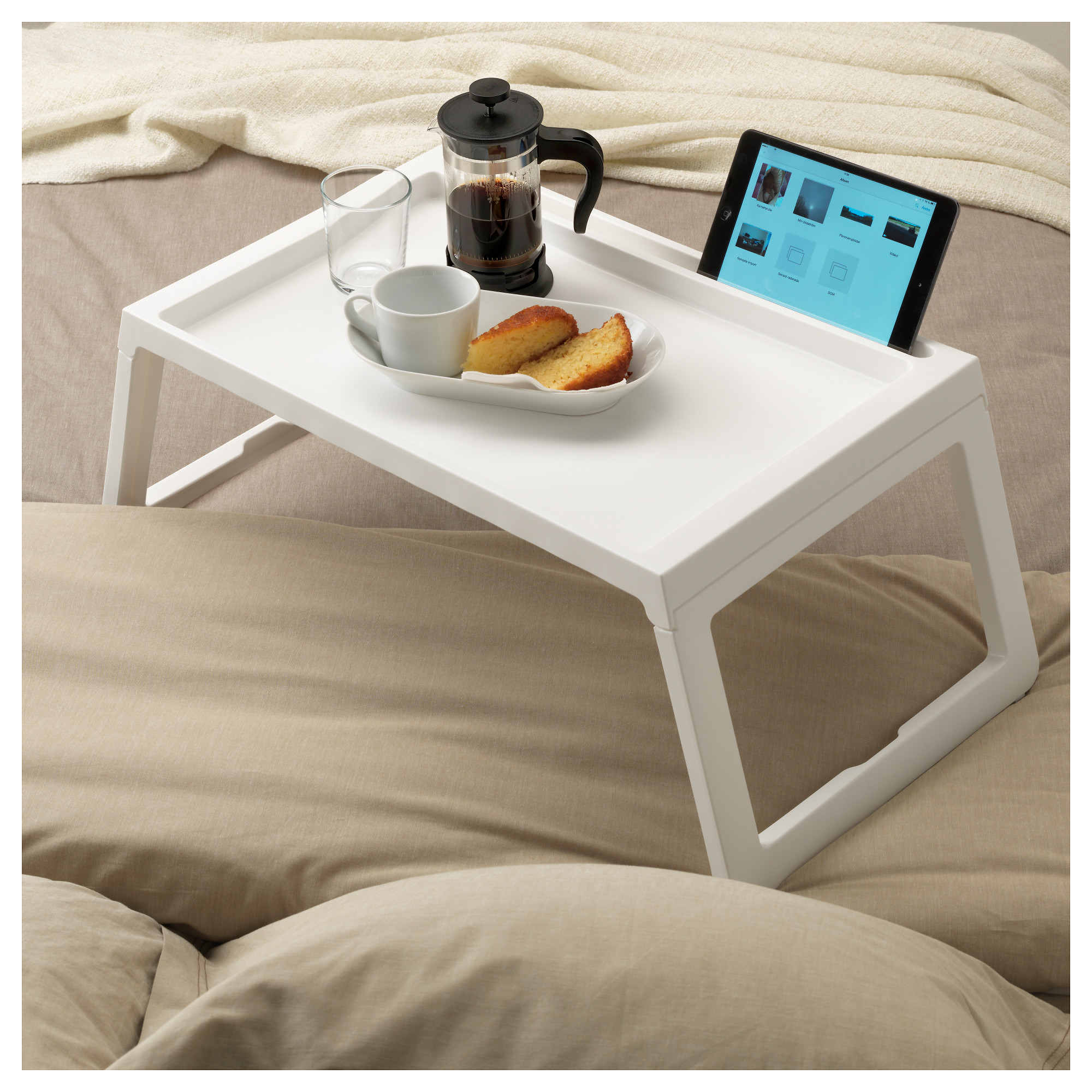 Delicieux Bed Tray KLIPSK White