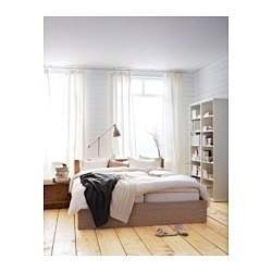 malm bettgestell hoch 180x200 cm ikea. Black Bedroom Furniture Sets. Home Design Ideas