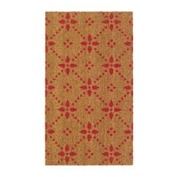 VINTER 2015 door mat, natural, red Length: 70 cm Width: 40 cm Area: 0.28 m²