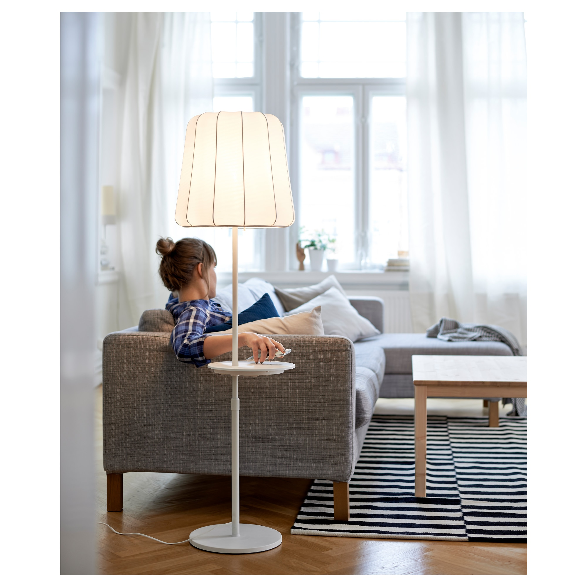 Floor lamp with tray table - Floor Lamp With Tray Table 25