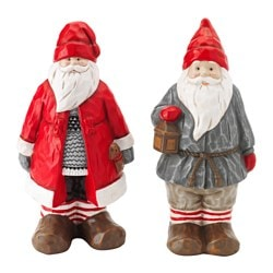 VINTER 2015 decoration, ceramic Santa Claus Height: 25 cm