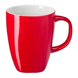 PLACERAD mug, red Height: 11 cm Volume: 30 cl