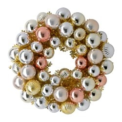 VINTER 2015 decoration, wreath, gold-colour Diameter: 40 cm