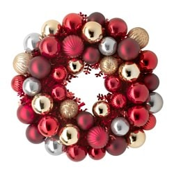VINTER 2015 decoration, wreath, red Diameter: 40 cm