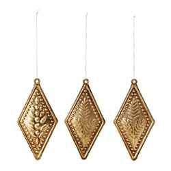 VINTER 2015 hanging decoration, diamond-shaped Height: 13.5 cm Package quantity: 3 pack