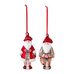 VINTER 2015 hanging decoration, Santa Claus, glass Height: 14 cm Package quantity: 2 pack