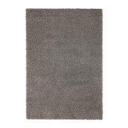 HAMPEN rug, high pile, grey Length: 230 cm Width: 160 cm Thickness: 12 mm
