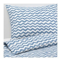"SOMMAR 2016 duvet cover and pillowcase(s), blue Thread count: 120 square inches Pillowcase quantity: 2 pack Duvet cover length: 86 "" Thread count: 120 square inches Pillowcase quantity: 2 pack Duvet cover length: 218 cm"