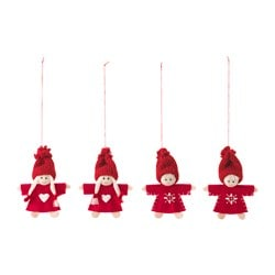 VINTER 2016 hanging decoration, Santa Claus, red Height: 8.5 cm Package quantity: 4 pieces