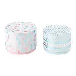 VINTER 2015 gift box, set of 2, pink, blue