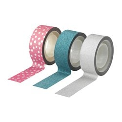 VINTER 2015 roll of tape, pink silver-colour, blue Length: 5 m Width: 2 cm Package quantity: 3 pack
