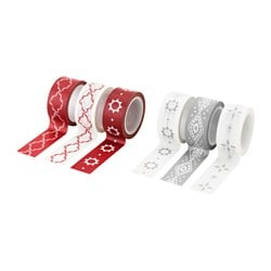 VINTER 2015 roll of tape, grey, red Length: 5 m Width: 2 cm Package quantity: 3 pack