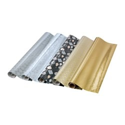 VINTER 2015 gift wrap roll, assorted gold/silver-colours
