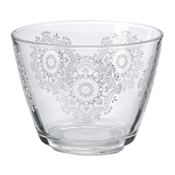 "VINTER 2015 bowl, white, patterned Diameter: 4 "" Height: 3 "" Diameter: 11 cm Height: 8 cm"