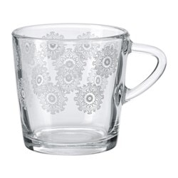 VINTER 2015 mug, white, patterned Height: 8 cm Volume: 21 cl