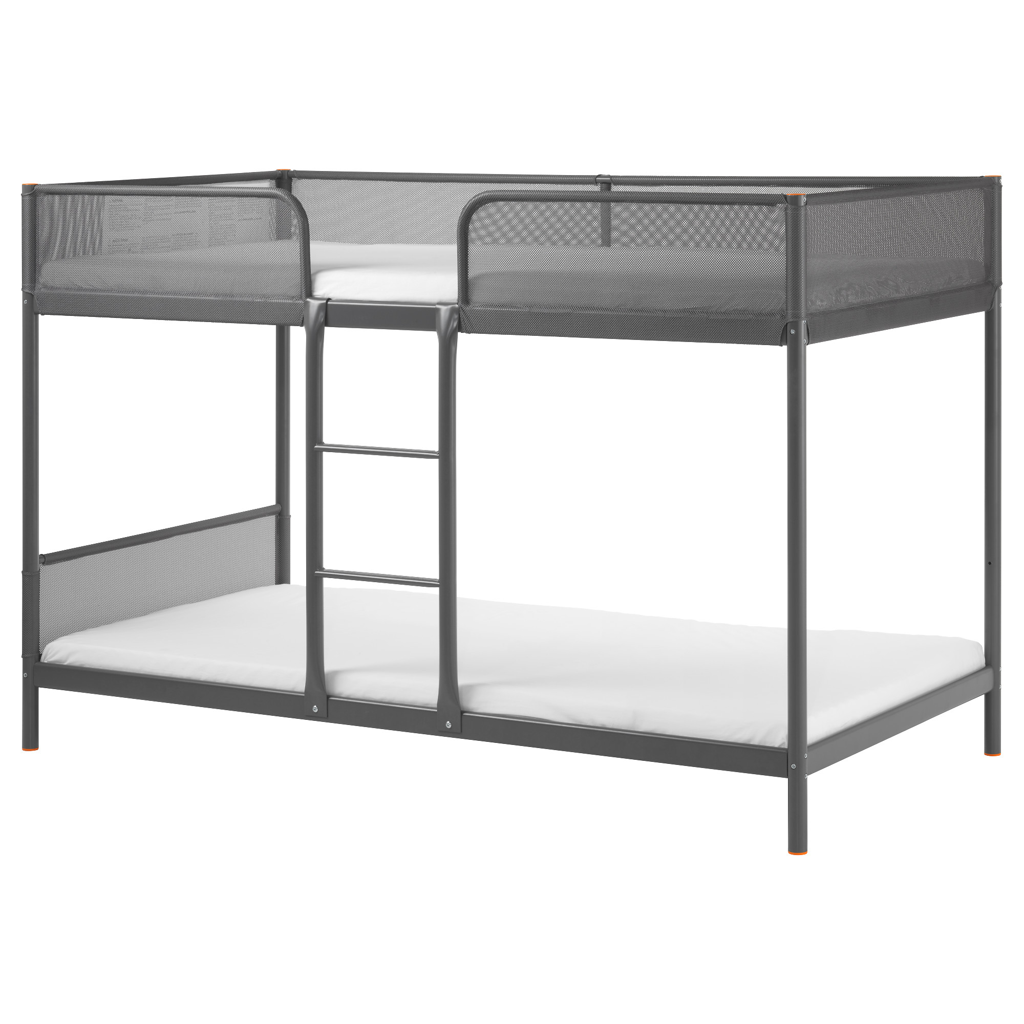 Bunk bed with desk underneath ikea - Tuffing Bunk Bed Frame Dark Gray Length 77 1 2 Width