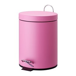 STRAPATS pedal bin, pink Diameter: 21 cm Height: 28 cm Volume: 5 l