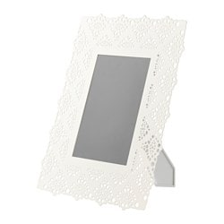 SKURAR frame, white Picture without mount, width: 13 cm Picture without mount, height: 18 cm