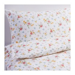 HÖSTFIBLA quilt cover and pillowcase, flower Quilt cover length: 200 cm Quilt cover width: 150 cm Pillowcase length: 50 cm