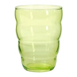 SKOJA glass, light green Height: 10 cm Volume: 31 cl