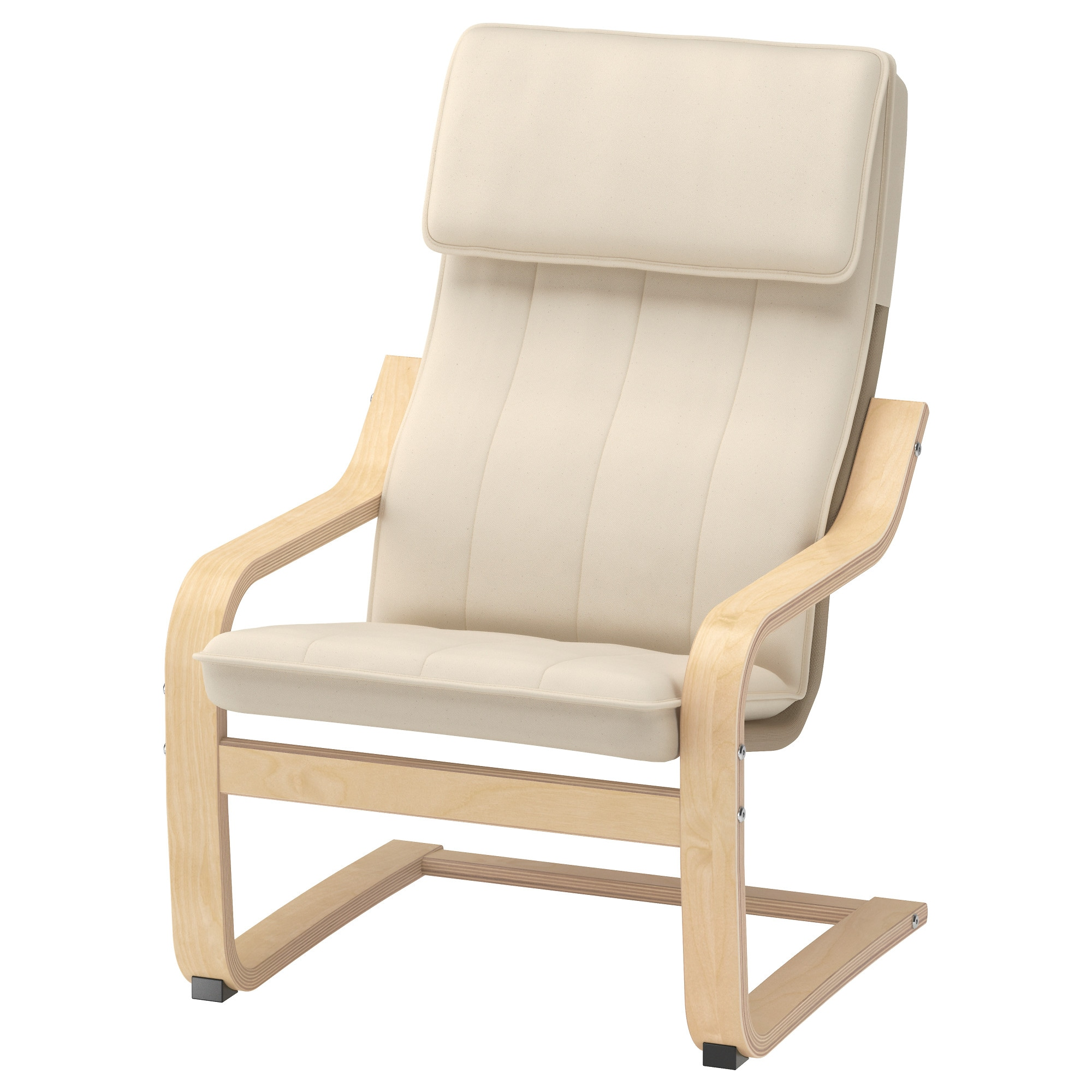 "PO""NG Children s armchair birch veneer Alm¥s natural IKEA"