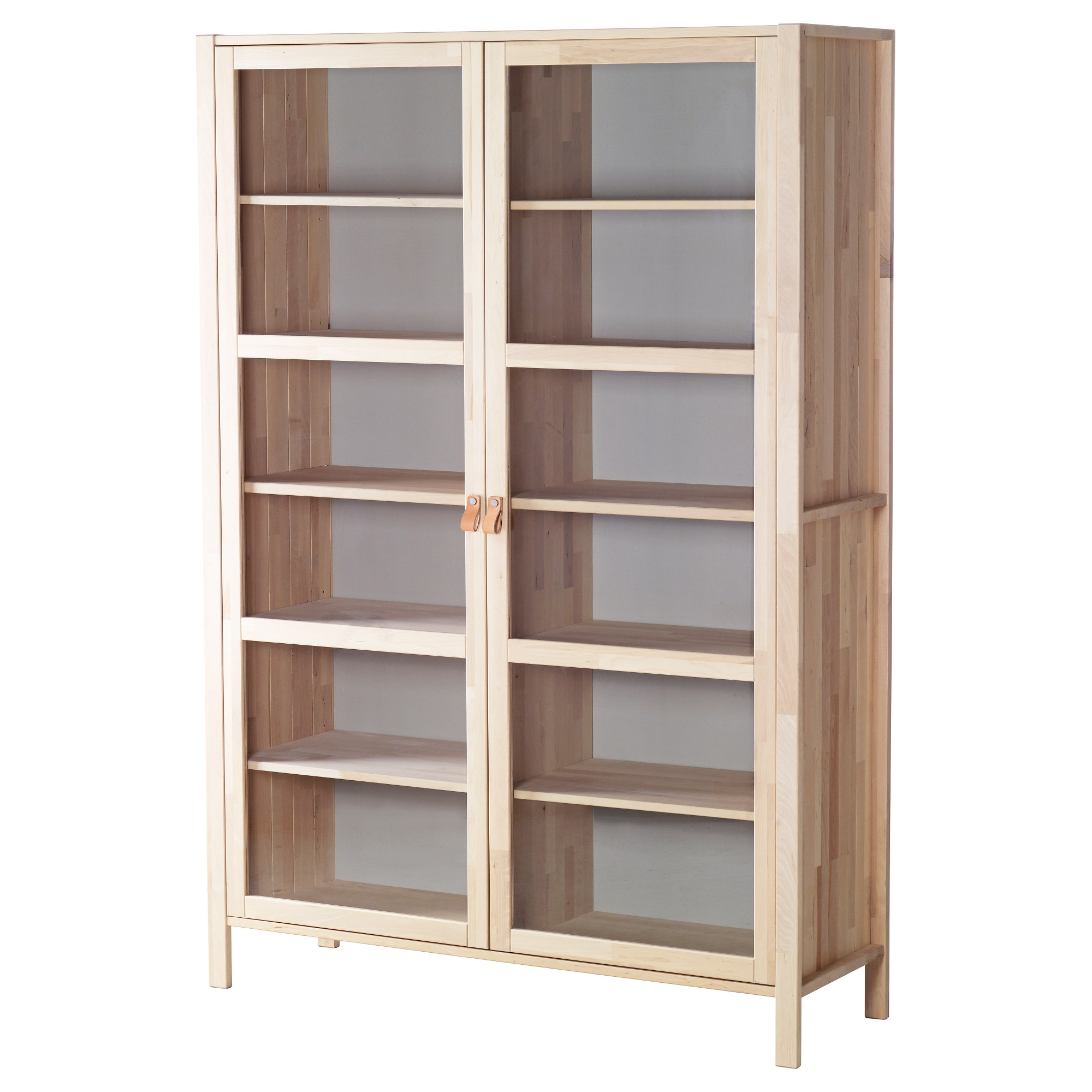 Ikea dining room storage - Bjrksns Glass Door Cabinet With 2 Doors Birch Width 48 38 Dining Room Cabinets Ikea