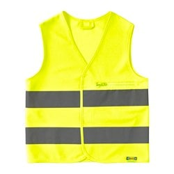 BESKYDDA high visibility vest, yellow, yellow XS Chest circumference: 79 cm