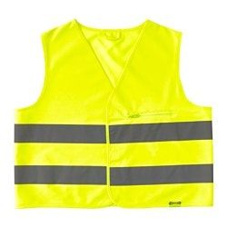 BESKYDDA reflective vest, yellow, yellow S Chest circumference: 113 cm