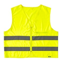 BESKYDDA high visibility vest, yellow, L/XL yellow Chest circumference: 132 cm