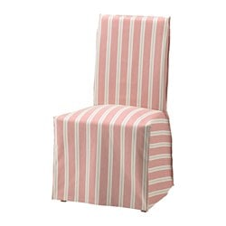 HENRIKSDAL Chair Cover Long Mobacka Red Beige