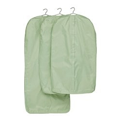 SKUBB clothes cover, set of 3, light green