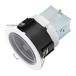 "HÄGGUM recessed spotlight, indoor/outdoor, adjustable white Max.: 9 W Cut-out diameter: 4 "" Height: 4 "" Max.: 8.5 W Cut-out diameter: 11 cm Height: 10 cm"