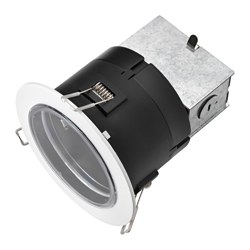 "HÄGGUM recessed spotlight, indoor/outdoor, white Cut-out diameter: 4 "" Max. diameter: 5 "" Height: 6 "" Cut-out diameter: 11 cm Max. diameter: 13 cm Height: 14 cm"