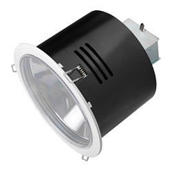 "TURUMA recessed spotlight, indoor/outdoor, white Cut-out diameter: 7 "" Max. diameter: 8 "" Height: 7 "" Cut-out diameter: 18 cm Max. diameter: 20 cm Height: 19 cm"