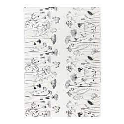 "PILÖRT fabric, white/black Weight: 0.75 oz/sq ft Width: 59 "" Pattern repeat: 36 "" Weight: 230 g/m² Width: 150 cm Pattern repeat: 92 cm"