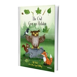 "SKOGSLIV - THE OWL GOES ON HOLIDAY livre Largeur: 8 ¾ "" Hauteur: 12 ¼ "" Largeur: 22.2 cm Hauteur: 31 cm"