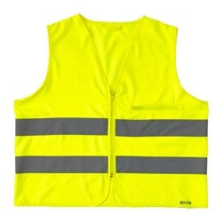BESKYDDA high visibility vest, yellow, M yellow Chest circumference: 115 cm