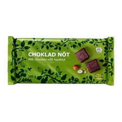 CHOKLAD NÖT milk chocolate bar w hazelnuts, UTZ certified Net weight: 100 g
