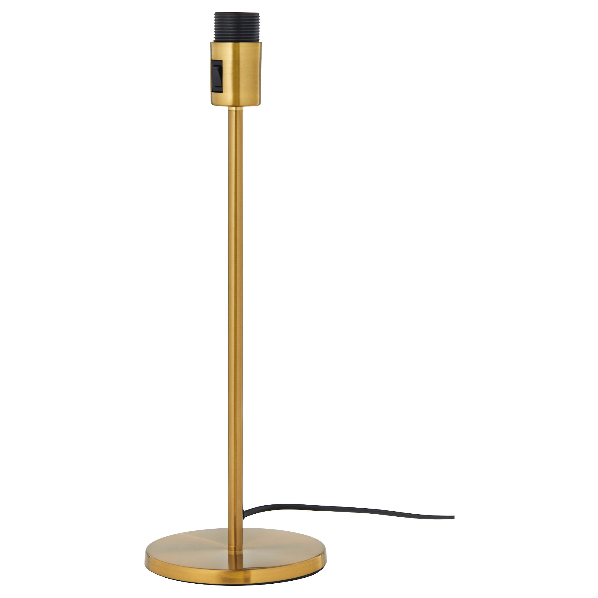 RODD table lamp base with LED bulb, brass color Height: 18