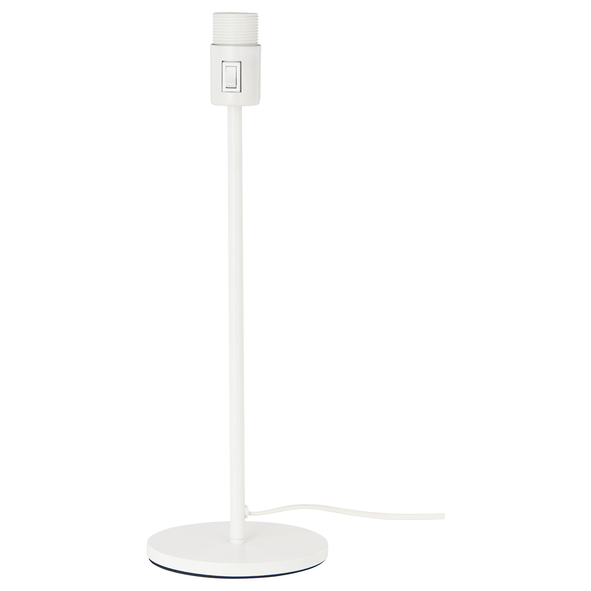 Table lamp height - Rodd Table Lamp Base With Led Bulb White Height 18 Base Diameter