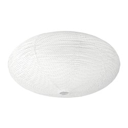 "SOLLEFTEÅ ceiling lamp, white Max.: 14 W Height: 11 "" Diameter: 21 "" Max.: 13.5 W Height: 29 cm Diameter: 53 cm"