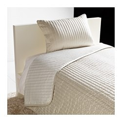 KARIT bedspread and cushion cover, beige Bedspread length: 280 cm Bedspread width: 180 cm Cushion cover length: 40 cm