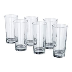 GODIS glass, clear glass Height: 16 cm Volume: 40 cl Package quantity: 6 pack