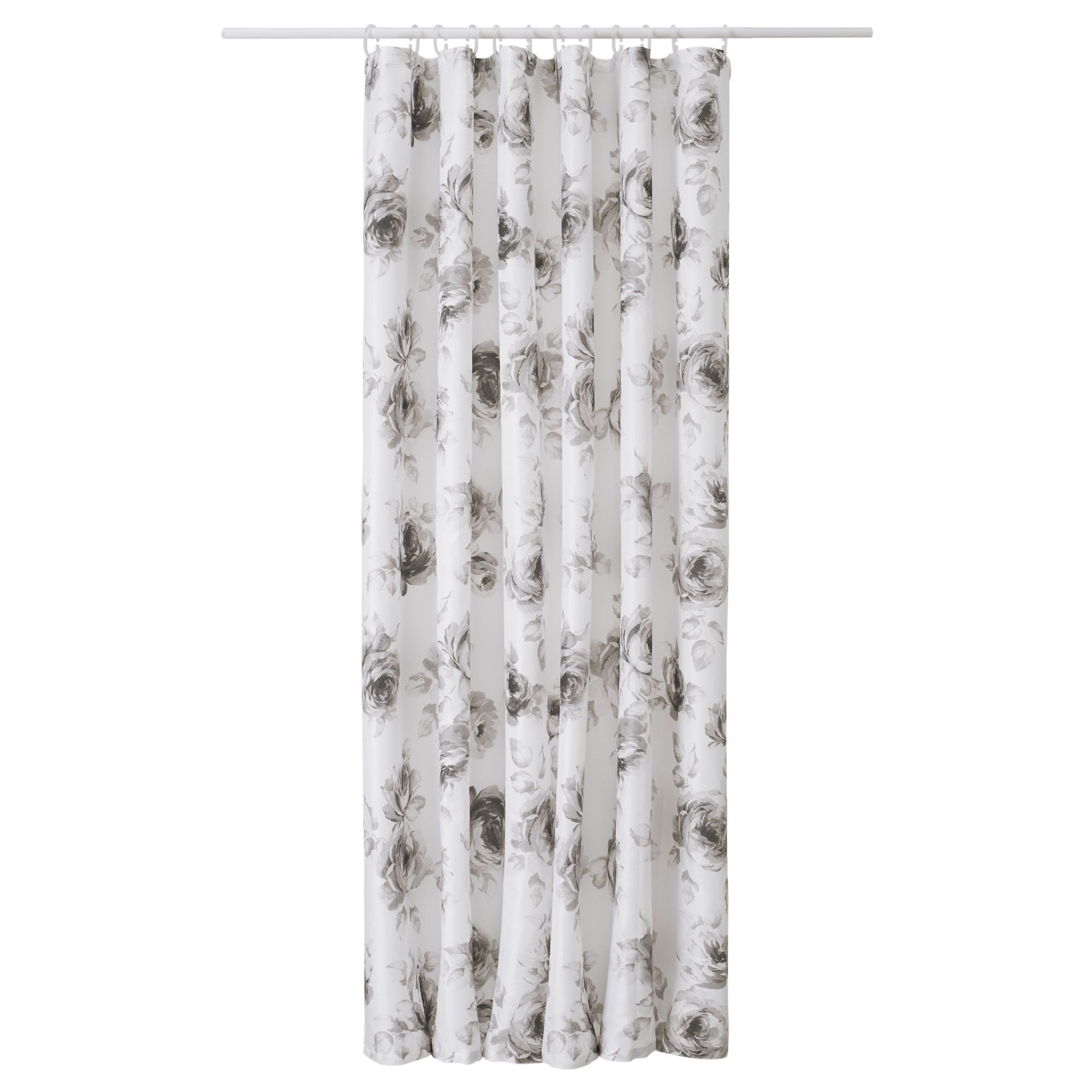 AGGERSUND Shower Curtain Gray White