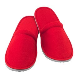 NJUTA slippers, L/XL, red Length: 30.5 cm Width: 11.0 cm Height: 8.5 cm