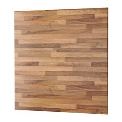 SIBBARP panel de pared, efecto nogal claro laminado