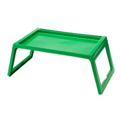 KLIPSK bed tray, green