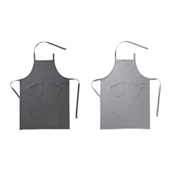 "SITTNING apron, gray, assorted colors Length: 37 3/8 "" Width: 27 1/2 "" Length: 95 cm Width: 70 cm"