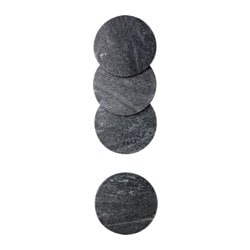 SITTNING coaster, marble Diameter: 10 cm Package quantity: 4 pieces